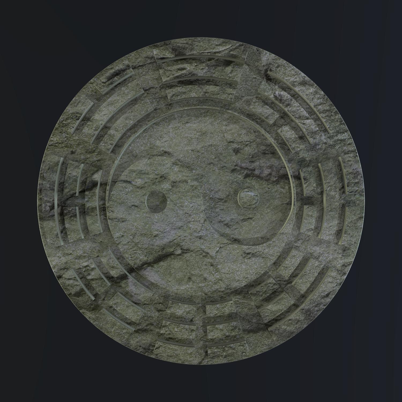 yin yang sign 3d model blend obj 116237
