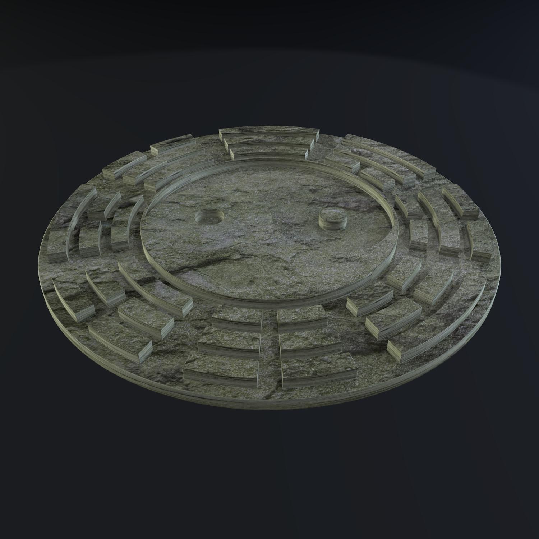 yin yang sign 3d model blend obj 116238
