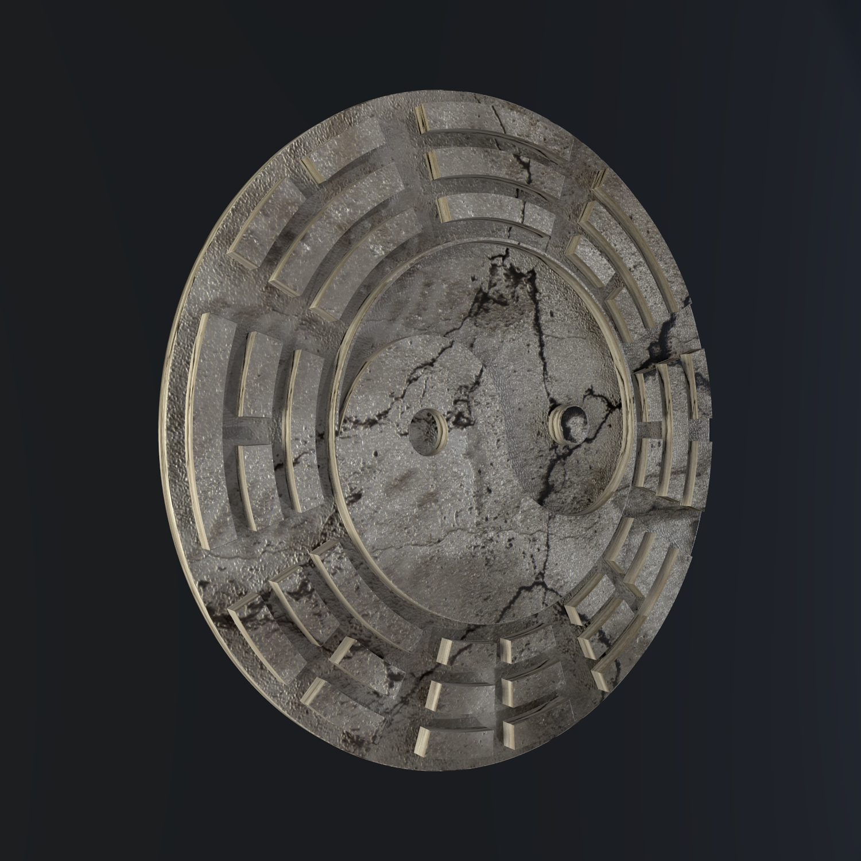 yin yang sign 3d model blend obj 116239