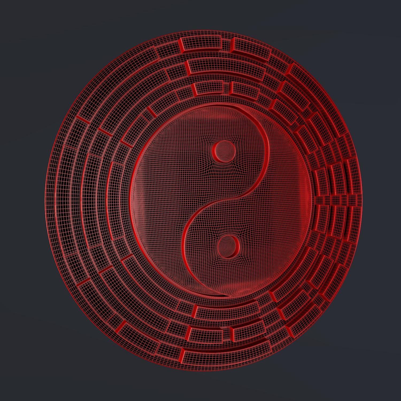 yin yang sign 3d model blend obj 116242