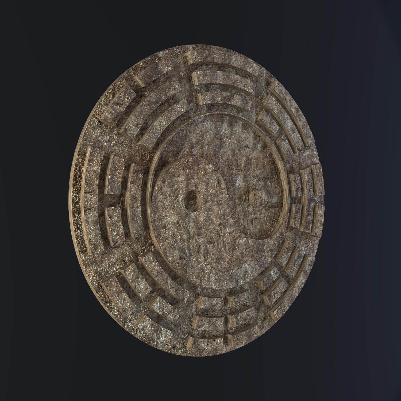 yin yang sign 3d model blend obj 116243