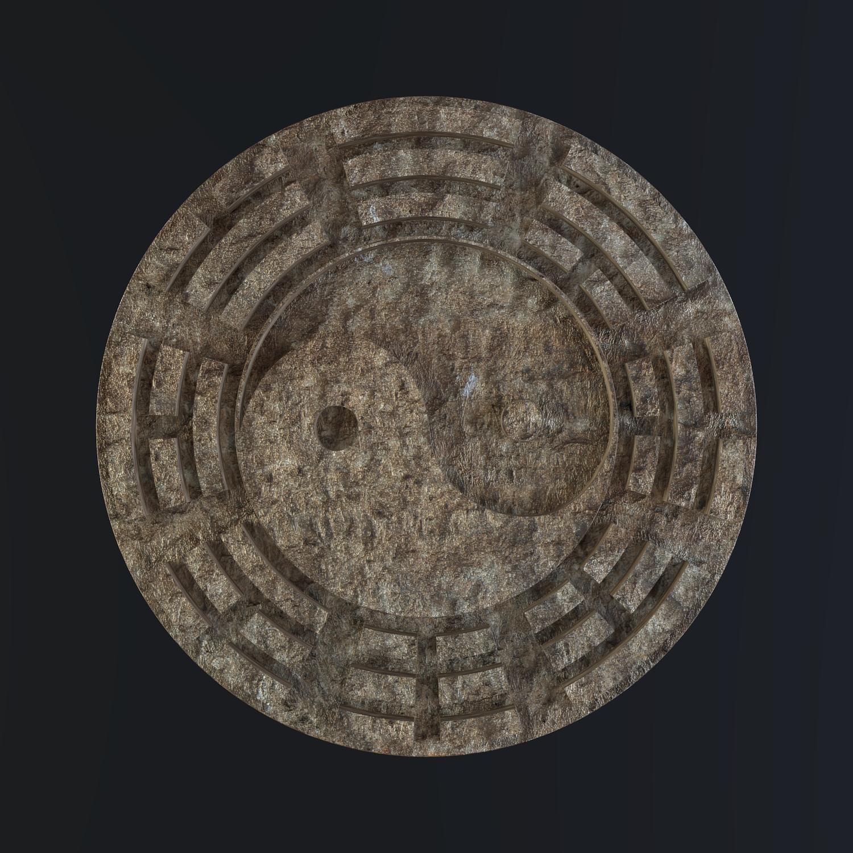 yin yang sign 3d model blend obj 116244
