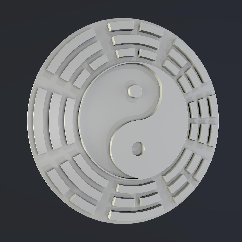 yin yang sign 3d model blend obj 116246