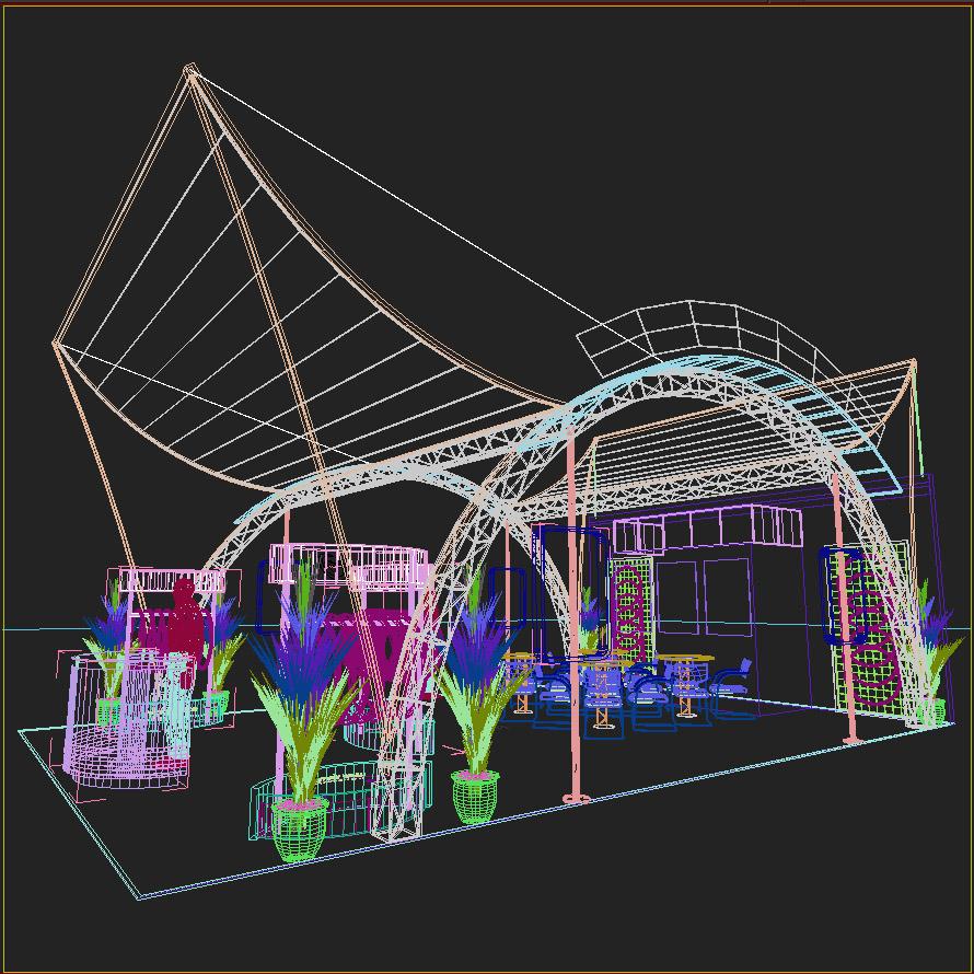 eksponēt stendu dizainu 016 3d modelis 3ds max dxf dwg fbx c4d ma mb hrc xsi faktūra obj 121555