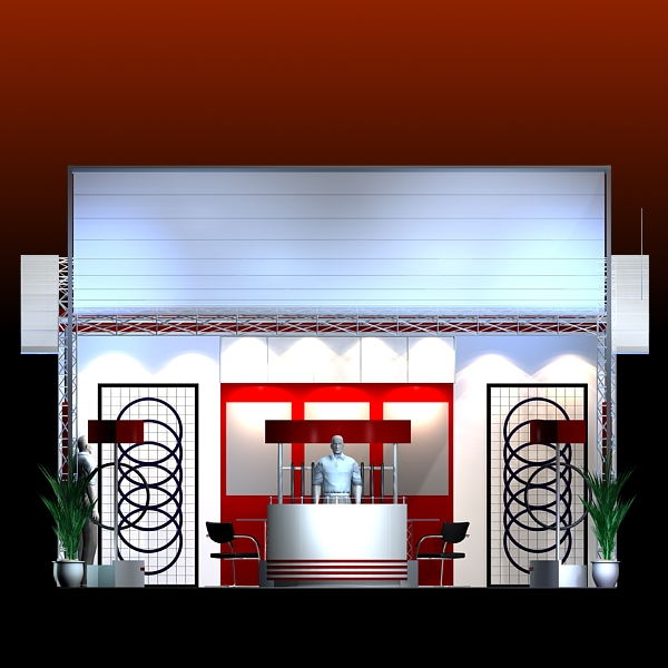 Exhibition Booth Obj : Exhibit booth design d model buy