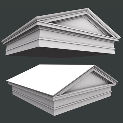 Arched and gable roman tuscan pediment architrave 3d model for Gable pediments for sale