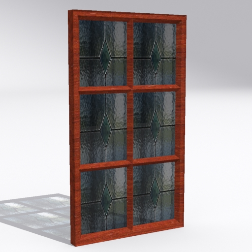 colored window 3d model 3ds 116072