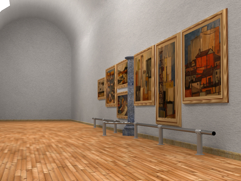 exhibition hall 3d model 3ds max c4d obj 117382