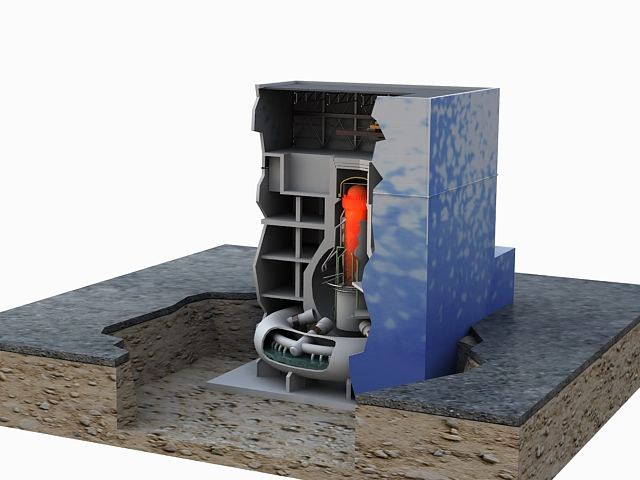 fukushima reactor 3d model max 113639