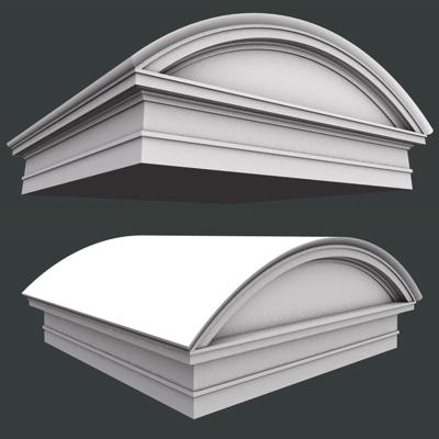 roman round pediment and architrave low high 3d model 3ds dxf fbx c4d obj 117917