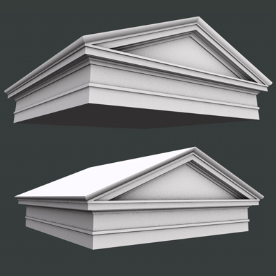 Roman Tuscan Pediment And Architrave Low High Poly 11533KB Jpg By Johnjohnson