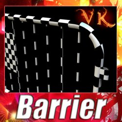 3D Model Barrier Fence High Detail 100 x 100 unwra ( 96.41KB jpg by VKModels )