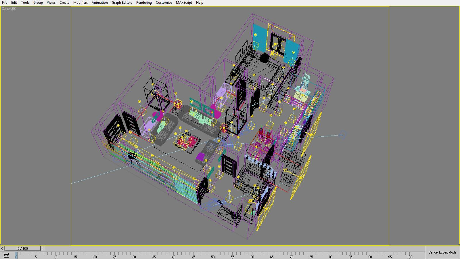 3D Model Detailed House Cutaway 3d model max 158985