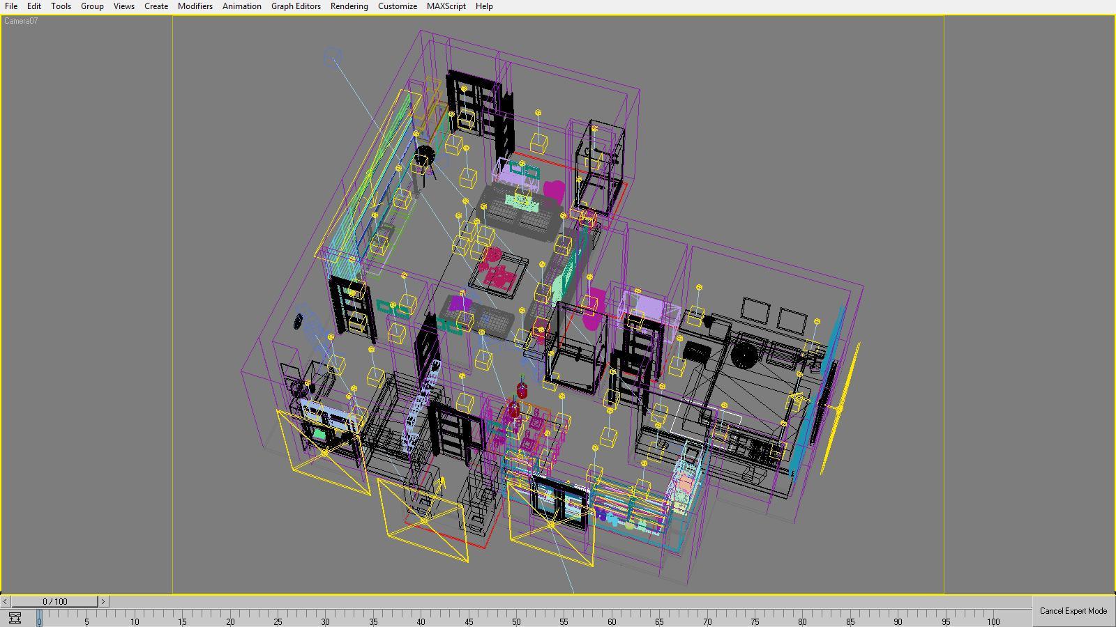 3D Model Detailed House Cutaway 3d model max 158984
