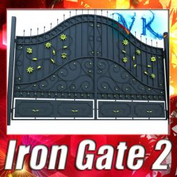 3D Model Iron Gate 02 ( 136.15KB jpg by VKModels )