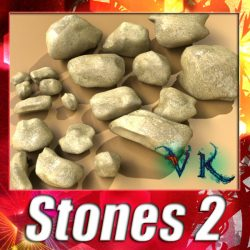 3D Model Stones 02 High resolution textures ( 142.77KB jpg by VKModels )