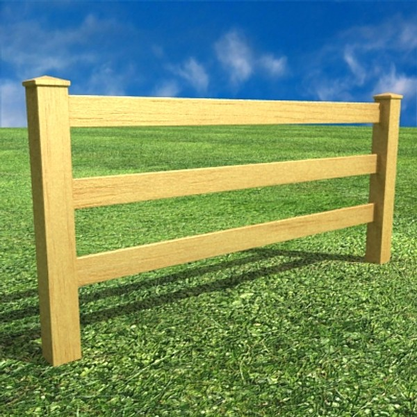 3d model wooden fence high detail 3d model buy 3d model for 3d fence