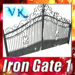 3D Model Wrought Iron Gate 01 ( 148.67KB jpg by VKModels )
