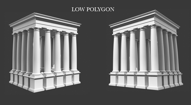 Roman tuscan column entablature pedestal 3d model buy for Tuscan columns