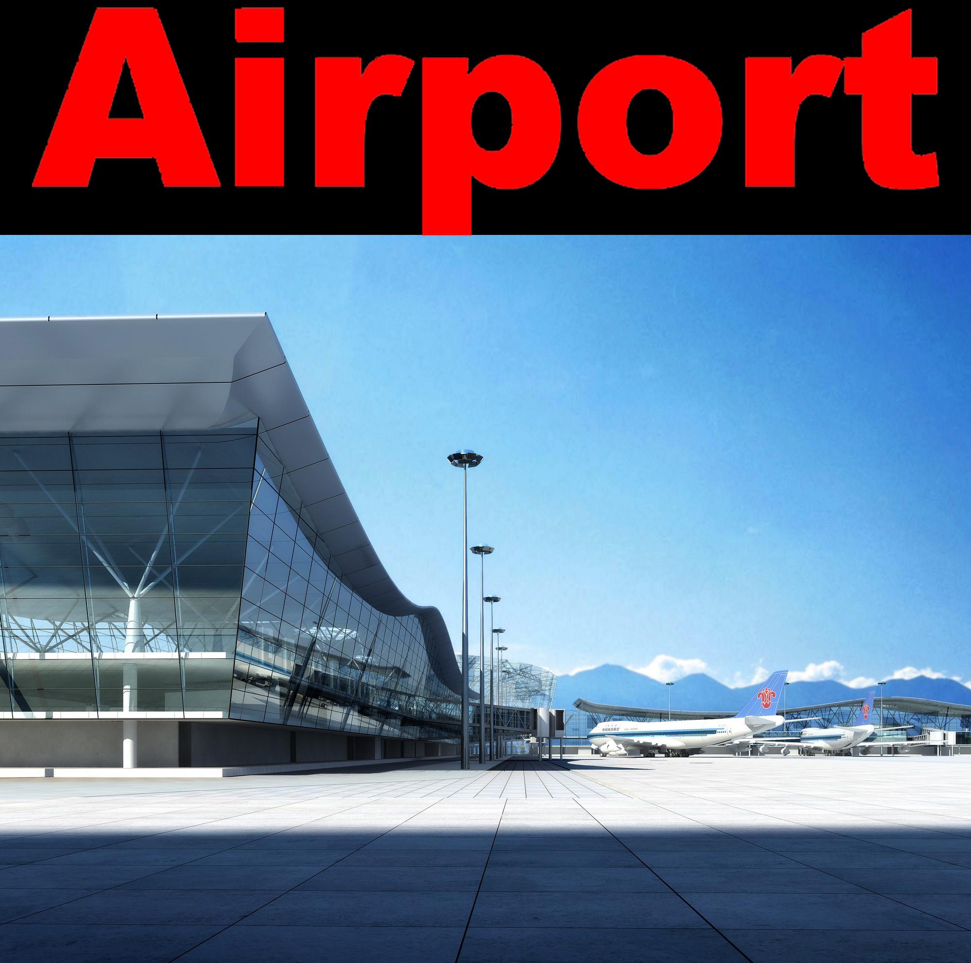 airport 09 3d model max psd 98320