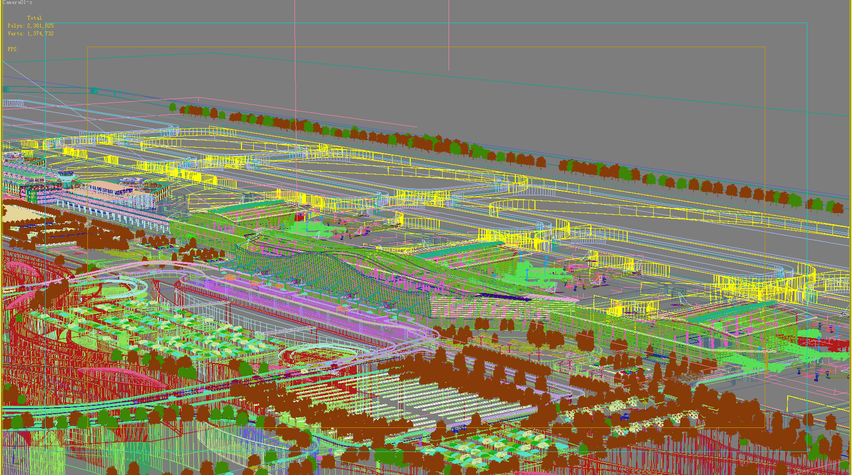 airport 10 night 3d model 3ds max psd 98315