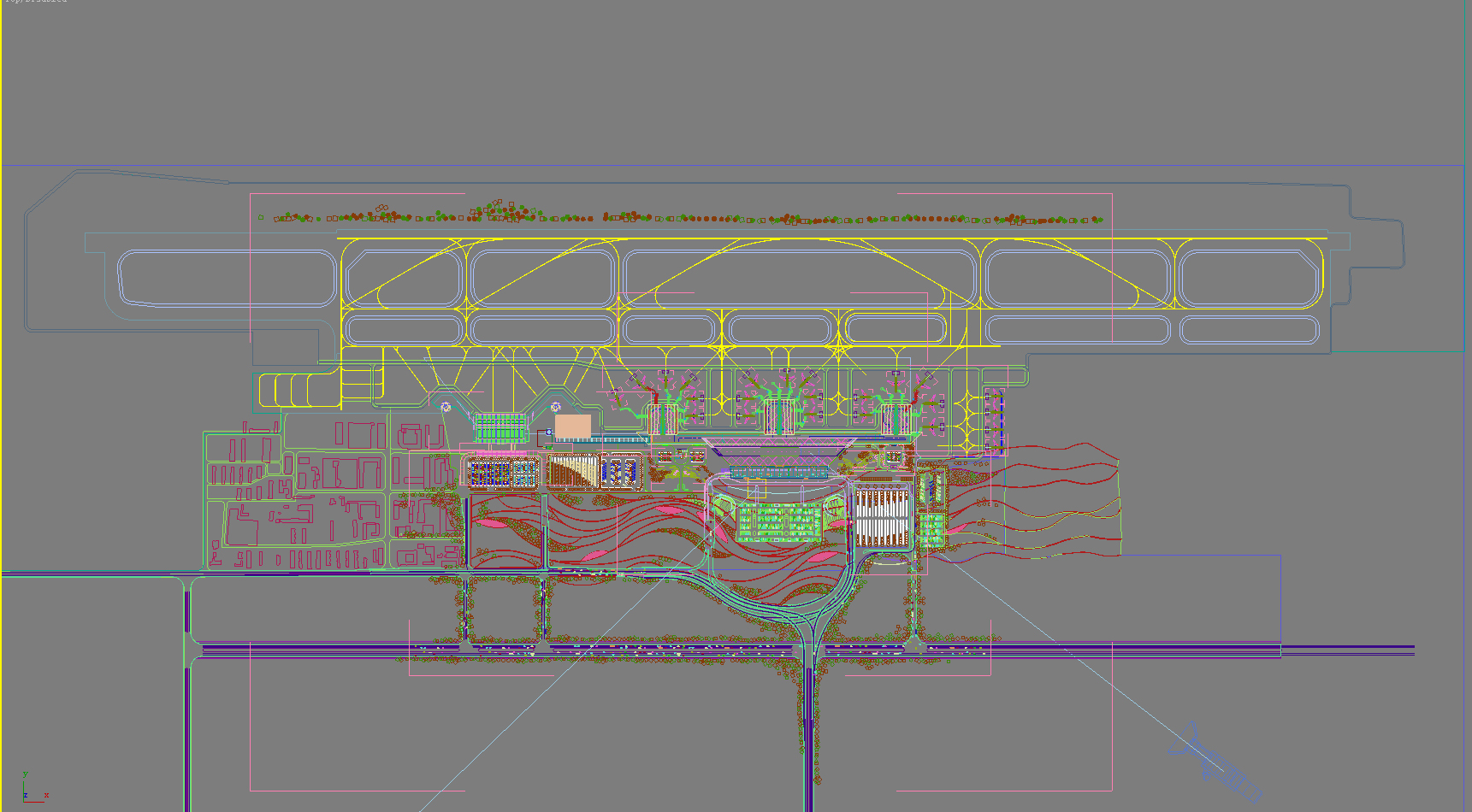 airport 10 night 3d model 3ds max psd 98316