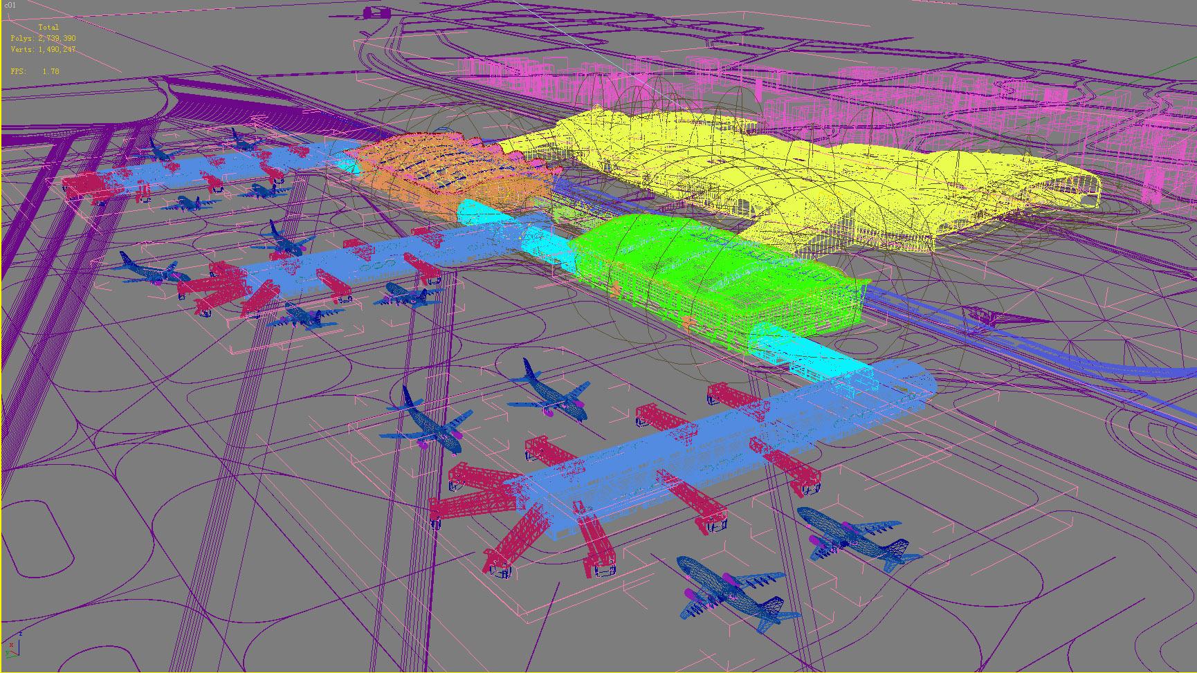 airport 11 3d model 3ds max 98307