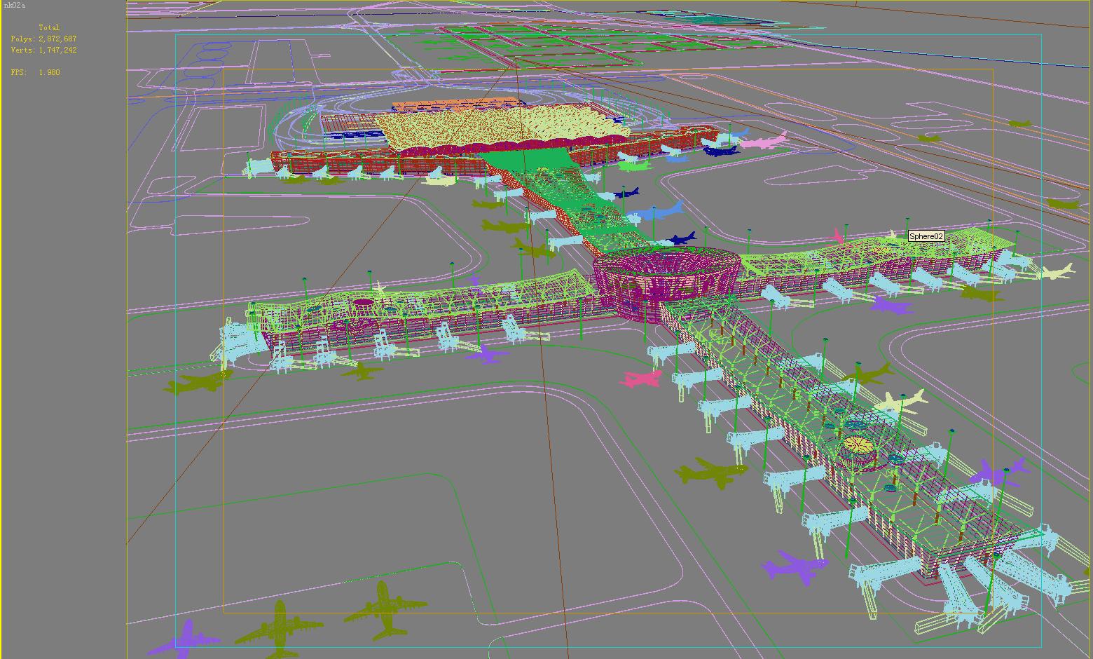airport 12 3d model 3ds max 98304
