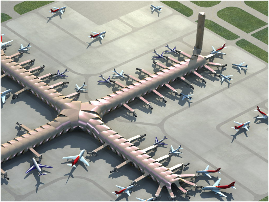 airport 14 3d model 3ds max 98338