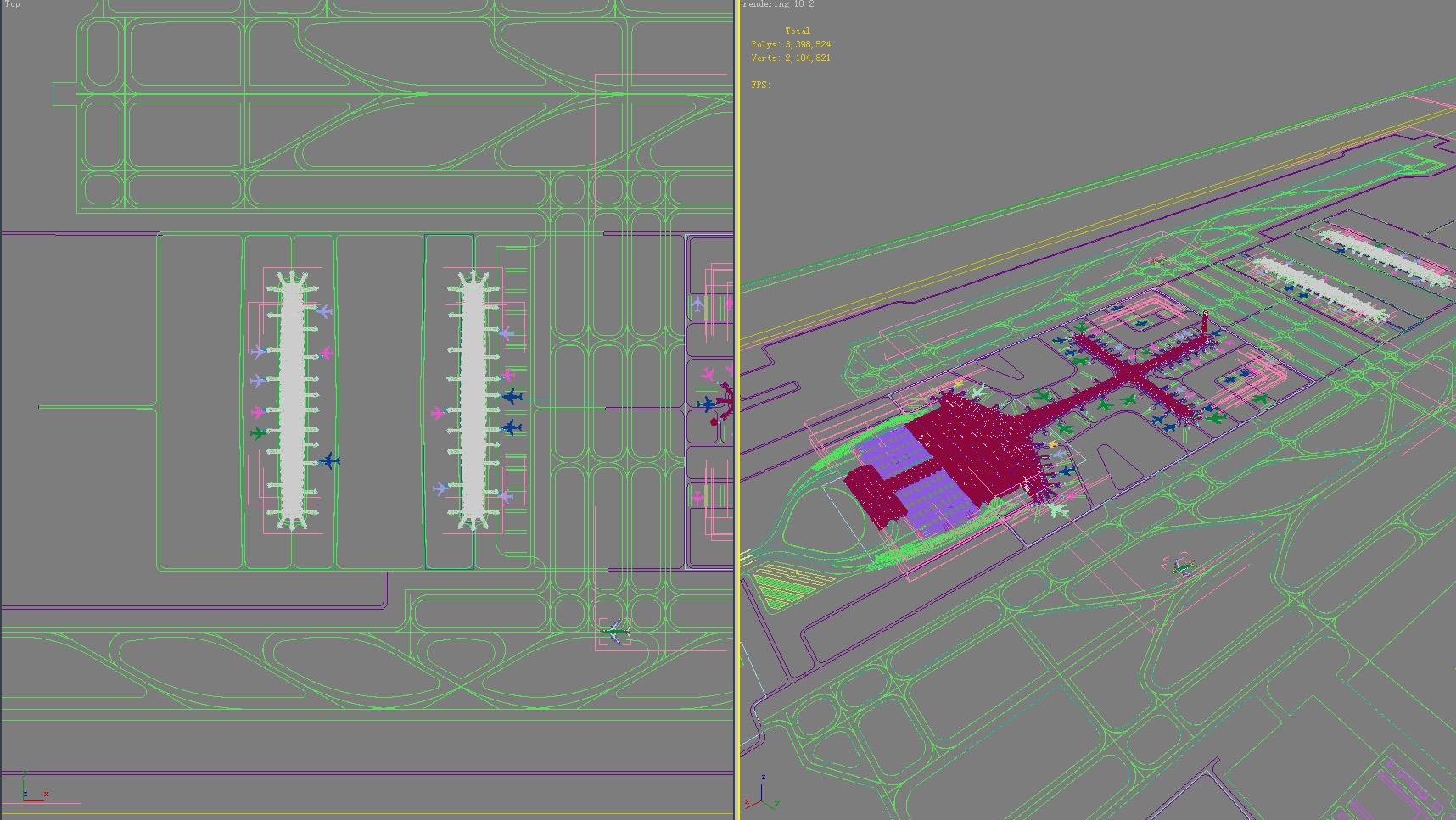 airport 14 3d model 3ds max 98340