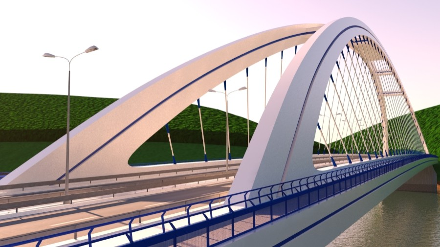 arched bridge 3d model 3ds max 148658