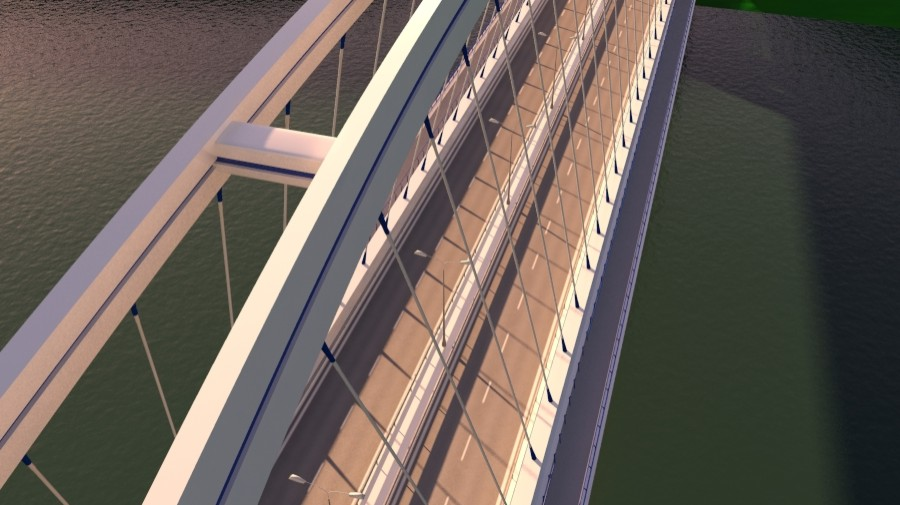 arched bridge 3d model 3ds max 148659