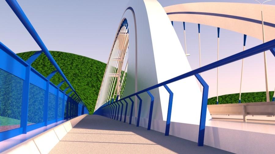 arched bridge 3d model 3ds max 148660
