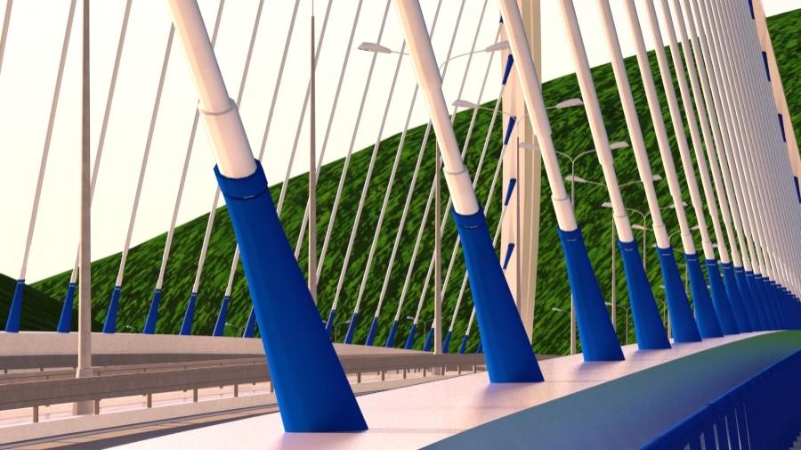 arched bridge 3d model 3ds max 148664