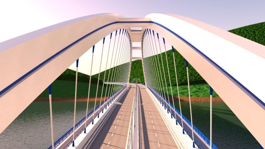 arched bridge 3d model 3ds max 148665