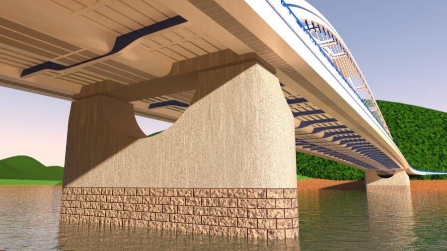 arched bridge 3d model 3ds max 148667