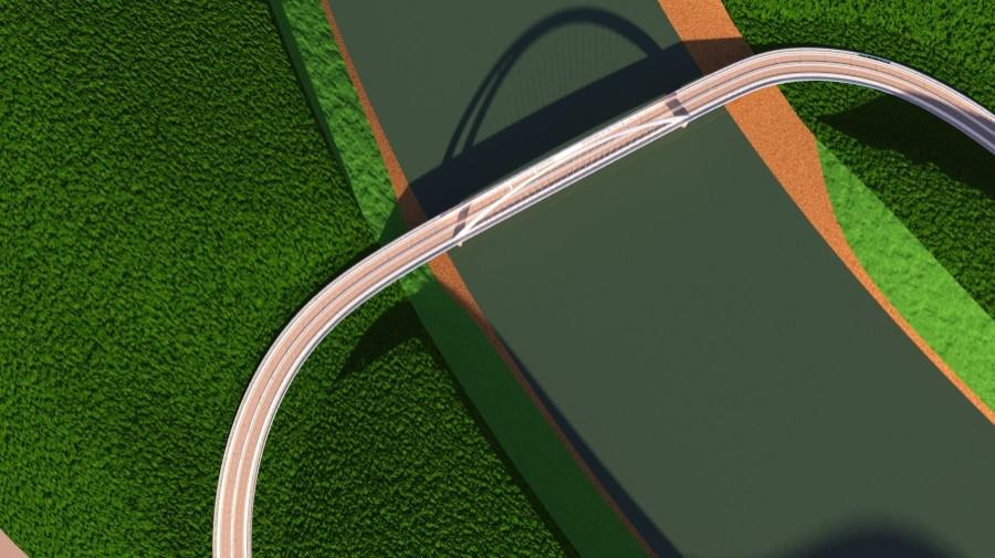 arched bridge 3d model 3ds max 148669