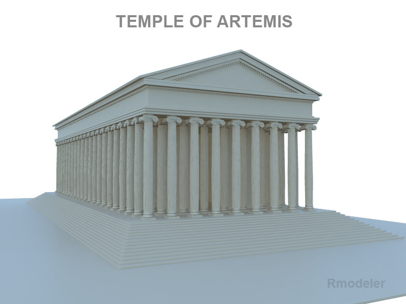 artemis temple 3d model le do thoil