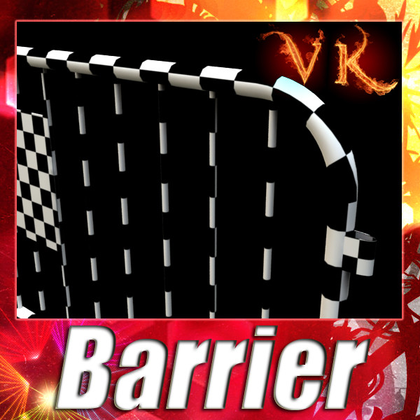 barrier fence high detail 100 x 100 unwra 3d model 3ds max fbx obj 130893