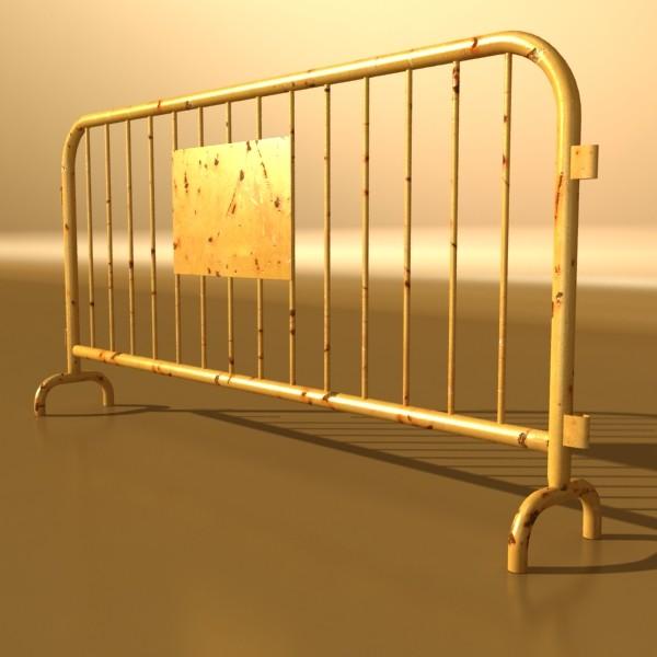bariyer çit yüksək ətraflı 100 x 100 unwra 3d model 3ds max fbx obj 130894
