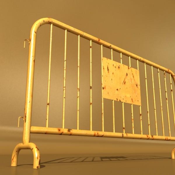 bariyer çit yüksək ətraflı 100 x 100 unwra 3d model 3ds max fbx obj 130895
