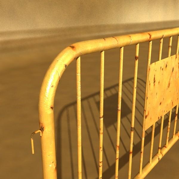 bariyer çit yüksək ətraflı 100 x 100 unwra 3d model 3ds max fbx obj 130896