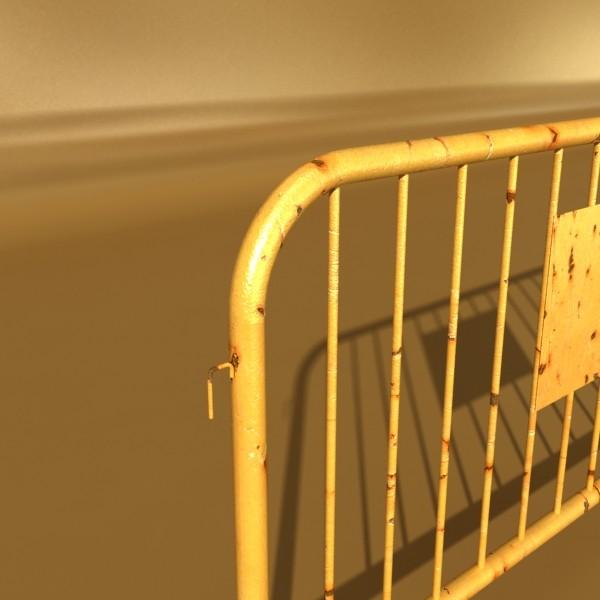 bariyer çit yüksək ətraflı 100 x 100 unwra 3d model 3ds max fbx obj 130897