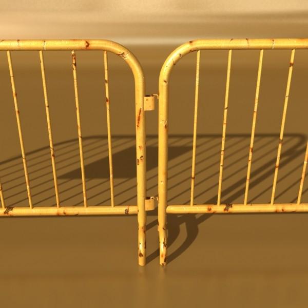 bariyer çit yüksək ətraflı 100 x 100 unwra 3d model 3ds max fbx obj 130898