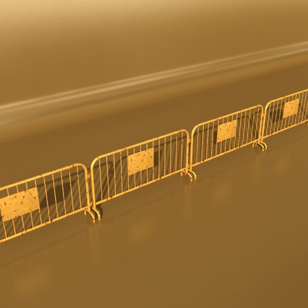 bariyer çit yüksək ətraflı 100 x 100 unwra 3d model 3ds max fbx obj 130899