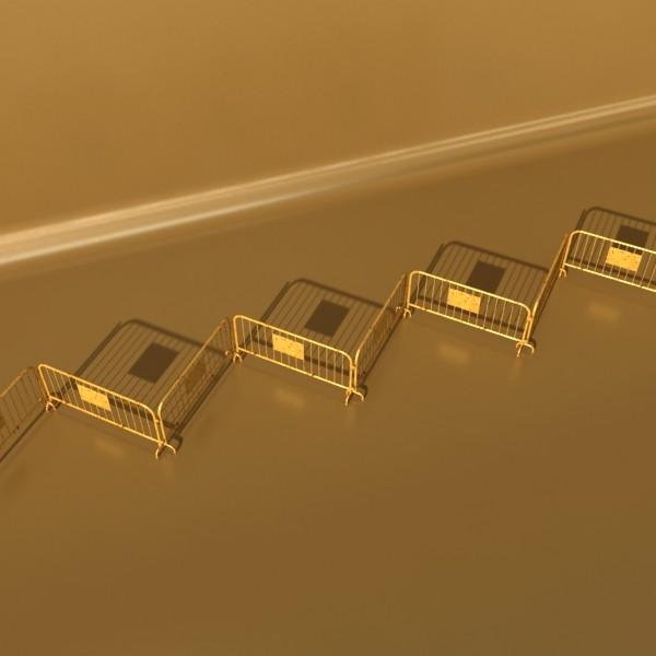bariyer çit yüksək ətraflı 100 x 100 unwra 3d model 3ds max fbx obj 130900