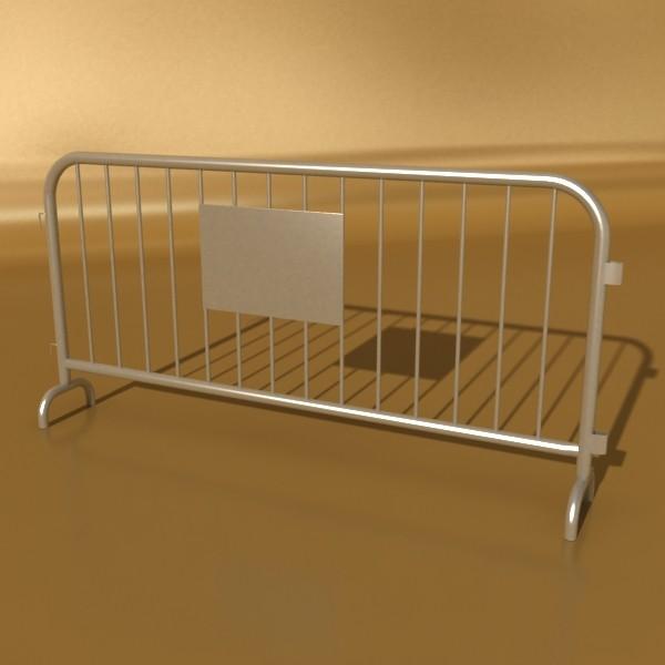 bariyer çit yüksək ətraflı 100 x 100 unwra 3d model 3ds max fbx obj 130901