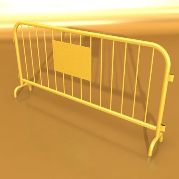 bariyer çit yüksək ətraflı 100 x 100 unwra 3d model 3ds max fbx obj 130902