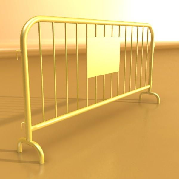 bariyer çit yüksək ətraflı 100 x 100 unwra 3d model 3ds max fbx obj 130903