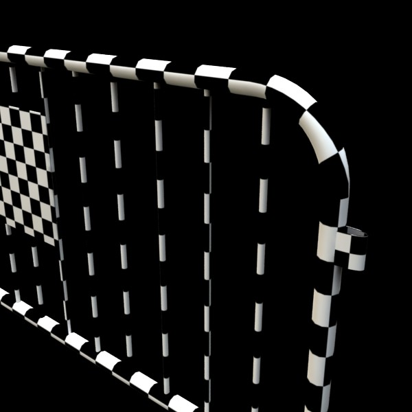 bariyer çit yüksək ətraflı 100 x 100 unwra 3d model 3ds max fbx obj 130907